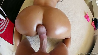 Pov crack fucking lubed up butt from Dianna Dee