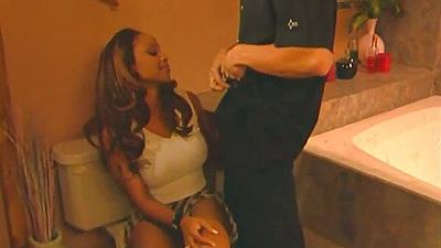 Undressing ebony Kitten and a titty fuck