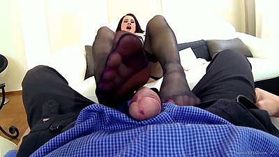 Carla Mai footjob in pov stockings