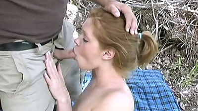 Amateur outdoor blowjob Bella