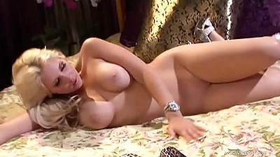 Sarah Vandella busty milf solo naked and spreading her legs