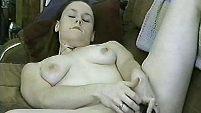 Amateur gf Ashleigh Rose masturbation with a dildo solo