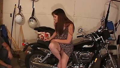 Garage fucking naughty wife Kaycee