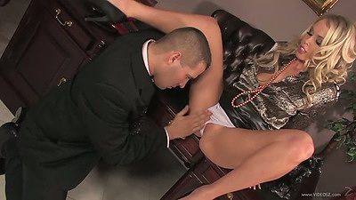 Fingering pulled aside panties half dressed euro Jamie Brooks in the office after hours