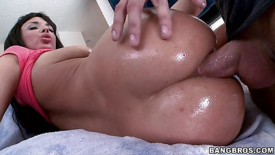 Sideways perfect shaped ass anal penetration Anissa Kate