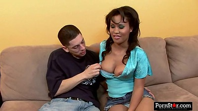 Ryann Reynolds taking off her bra and getting titties squeezed