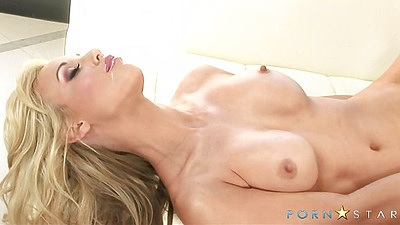 Kayden Kross big tits solo scene with a dildo