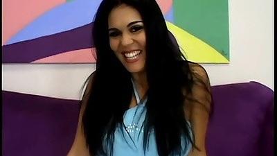 Gorgeous busty latina milf Olivia O lovely undressing