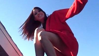 Brunette solo chick Brooke Skye in her bras and panties