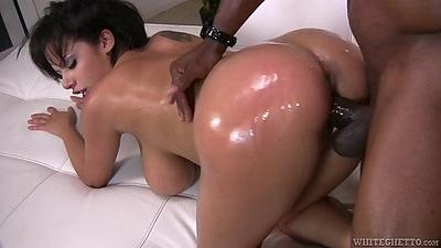 Doggy style ebony with nice big boobies Alexis Silver