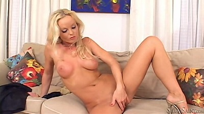 Intimate shaved pussy and dildo scene from Silvia Saint