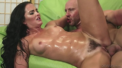Bushy girl with natural breasts oil fuck from Bianca Breeze