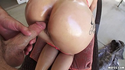 Nice oil on ass prepped for some doggy style including a titty fuck right after Katrina Jade