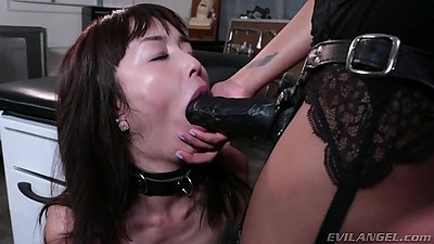 Rough lesbian sex with strap ons and others Skin Diamond and Marica Hase