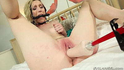 Aiden Starr and Maia Davis  filled with machine sex pussy