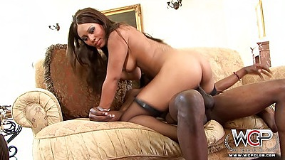 Stockings cowgirl ebony girl with natural breasts fucking Tila Flame