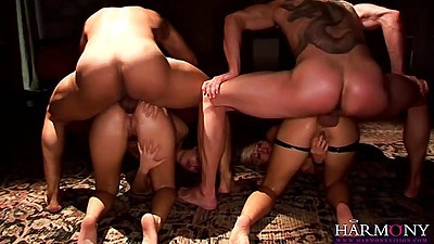 Doggy style and anal with ass to mouth deep throats whores close ups Annette Schwarz