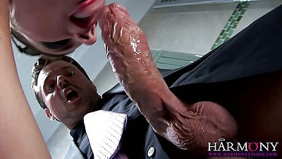 Big dick blowjob with Bellina doing her thing with pov