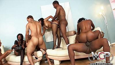 Ebony group hardcore orgy fuck