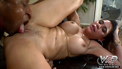 Cunt eating interracial anal oil fuck from busty Aleksa Nicole