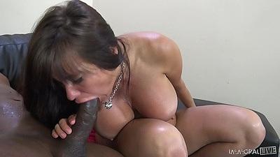 Big black cock blowjob from white bitch Sheila Marie