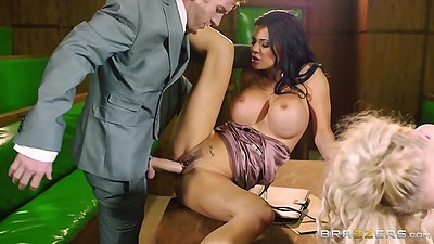 Parliamentary fucking orgy with Loulou and Jasmine Jae
