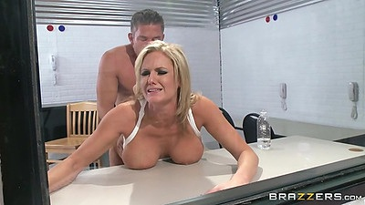 Doggy style prison visiting room sex on table Zoey Holiday