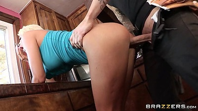 Frisky doggy style milf fuck from real wife Courtney Taylor