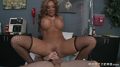 Delicious milf reverse cowgirl hospital public room sex Richelle Ryan