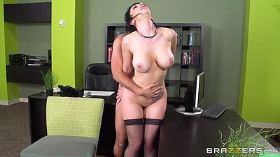 Fucking clients with Jayden Jaymes the whore of office