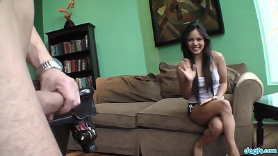 Reverse blowjob with deep throating latina Lana Violet