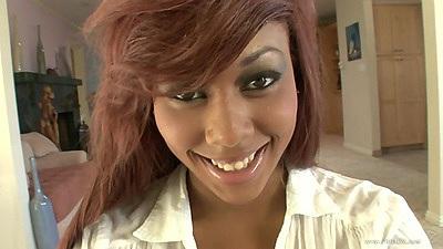 Good looking redhead bras and panties skinny black girl Leilani Leeanne
