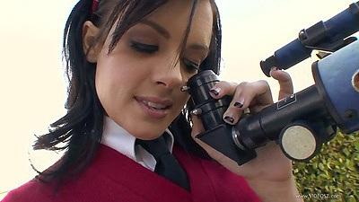Stephanie Sage teen wearing her prep school uniform