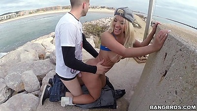 Nasty nympho latina Blondie Fesser public fucked with some pov shots