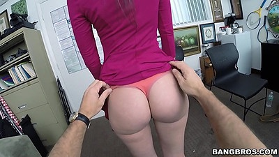 Gia Paige skinny white chick gets undressed by dude in first sex video