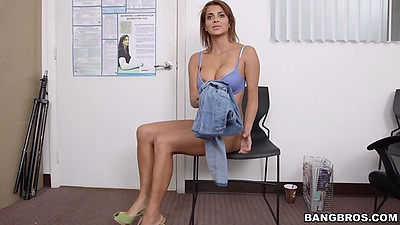 Milf Bianca getting naked during her audition